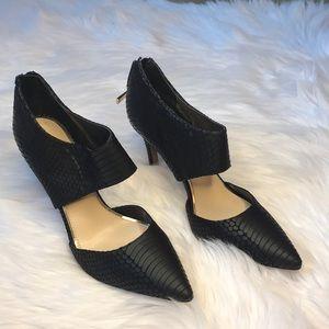 """Jessica Simpson Black """"Snakeskin"""" Heels"""